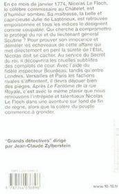 Les enquêtes de Nicolas Le Floch T.4 ; l'affaire Nicolas le Floch - 4ème de couverture - Format classique