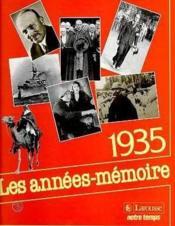 Les Annees Memoire 1935 - Couverture - Format classique