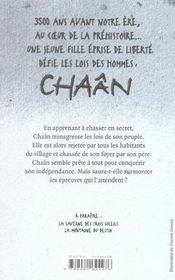 Chaân t.1 ; la rebelle - 4ème de couverture - Format classique