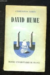 David Hume. - Couverture - Format classique