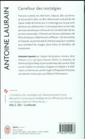 Carrefour des nostalgies - 4ème de couverture - Format classique