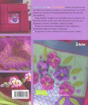 Couleurs Sur Couleurs ; Broder La Couleur - 4ème de couverture - Format classique