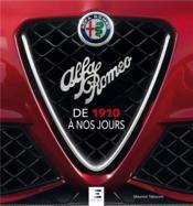 Alfa Romeo ; de 1910 à nos jours - Couverture - Format classique
