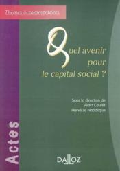 Quel avenir pour le capital social ? - Couverture - Format classique