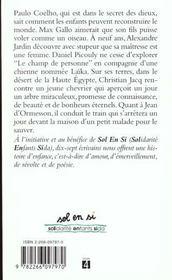 Sol En Si Histoires D'Enfance - 4ème de couverture - Format classique