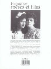 Histoire Des Meres Et Filles - 4ème de couverture - Format classique