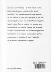 Balenciaga - 4ème de couverture - Format classique