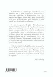 Oeuvre poetique volume 2 - 4ème de couverture - Format classique