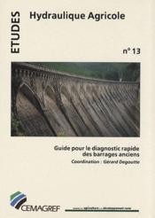 Guide pour le diagnostic rapide des barrages anciens - Couverture - Format classique