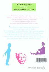 Petits Gestes Yoga Pour Petits Tracas - 4ème de couverture - Format classique