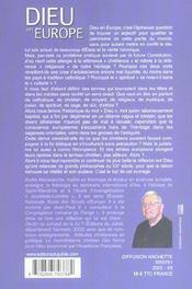 Dieu En Europe - 4ème de couverture - Format classique