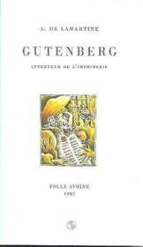 Gutenberg - Couverture - Format classique