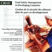 Gestion de la sécurité des aliments dans les pays en développement / food safety management in developing countries - Couverture - Format classique