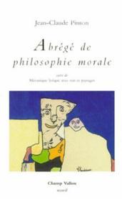 Abrégé de philosophie morale - Couverture - Format classique