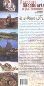 Parcours découverte du patrimoine de la haute-loire - 4ème de couverture - Format classique