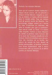 Amélie Nothomb de A à Z ; portrait d'un monstre littéraire - 4ème de couverture - Format classique