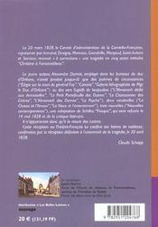 Christine à Fontainebleau - 4ème de couverture - Format classique