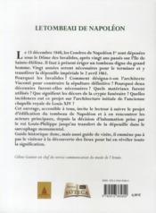 Le tombeau de Napoléon - 4ème de couverture - Format classique