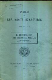 Annales De L'Universite De Grenoble Tome Xvi N°2 / La Classification Des Personnes Morales / (Plaquette). - Couverture - Format classique