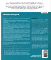 Méthodes de design UX ; 30 méthodes fondamentales pour concevoir des expériences optimales (2e édition) - 4ème de couverture - Format classique