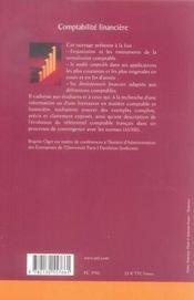 Comptabilite financière - 4ème de couverture - Format classique