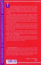 Creation De Valeur Pour Le Client - 4ème de couverture - Format classique