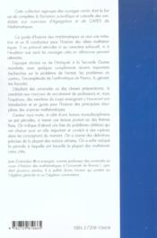 Guide D'Histoire Des Mathematiques Maths Capes Agreg Iufm - 4ème de couverture - Format classique