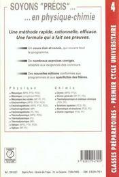 Precis de physique t.4 ; livre de l'elevectromagnetisme mpsi pcsi ptsi 1e annee - 4ème de couverture - Format classique