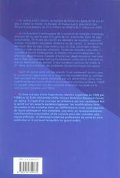 En forme pour la vie recommandations nutritionnelles pour les personnes agees 2004 - 4ème de couverture - Format classique