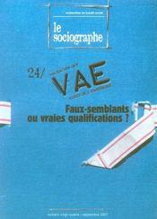 Sociographe (le) n 24 2007 - Intérieur - Format classique