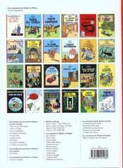 Les aventures de Tintin T.7 ; l'île noire - 4ème de couverture - Format classique