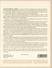 Sanctuaire du coeur - 4ème de couverture - Format classique