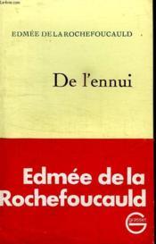 De L Ennui. - Couverture - Format classique