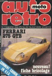 Auto-Moto Retro N°9 - Ferrarie 275 Gtb - Comment Courrir En V.E.C - Couverture - Format classique