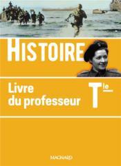 Histoire ; terminale ; livre du professeur (édition 2020) - Couverture - Format classique
