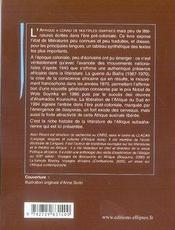 Histoire des littérature de l'afrique subsaharienne - 4ème de couverture - Format classique