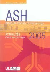Ash - Actualites. Compte-Rendu Du Congres 2005 - Intérieur - Format classique