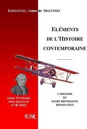 Les Elements De L'Histoire Contemporaine - Couverture - Format classique