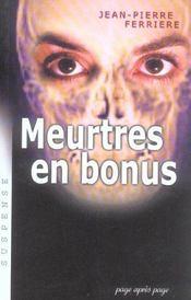 Meurtres En Bonus - Intérieur - Format classique