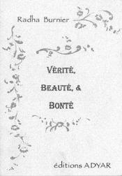 Verite. Beaute Et Bonte - Couverture - Format classique