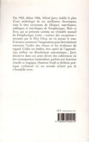Siloques, superloques soliloques et interloques de pataphysique - 4ème de couverture - Format classique