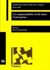 La responsabilité civile de l'entreprise - Couverture - Format classique