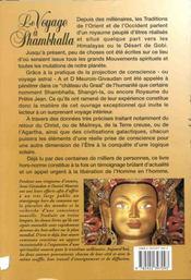 Voyage A Shambhalla. Pelerinage Vers Soi - 4ème de couverture - Format classique