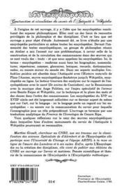 Les encyclopédies ; construction et circulation du savoir de l'antiquité à Wikipédia - 4ème de couverture - Format classique