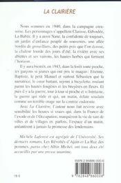 Clairiere (la) - 4ème de couverture - Format classique