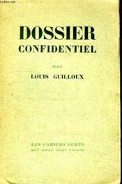 Dossier Confidentiel. - Couverture - Format classique