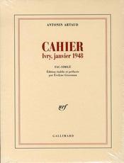 Cahier ; ivry, janvier 1948 - Intérieur - Format classique