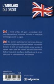 L'anglais du droit - 4ème de couverture - Format classique