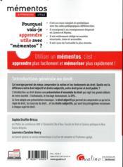 Introduction générale au droit (édition 2019/2020) - 4ème de couverture - Format classique