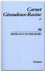 Carnet Giraudoux-Racine t.6 - Couverture - Format classique